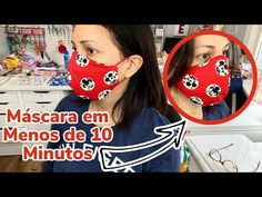 MÁSCARA BICO DE PATO em MENOS de 10 MINUTOS - MOLDE GRÁTIS - 10 Minute Face Mask - Aline Nunes - YouTube Zig Zag Scissors, Easy Crafts, Easy Diy, Sewing Crafts, Sewing Projects, Sewing Essentials, Brother Sewing Machines, Sewing Accessories, Sewing For Beginners