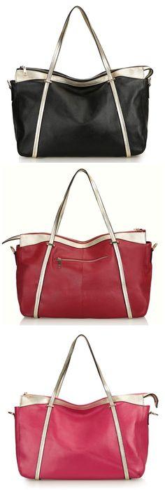 Large Women's Real Leather Casual Tote Handbag Shoulder Bags Ladies Tote Satchels Purse Bolsa Bagail.com