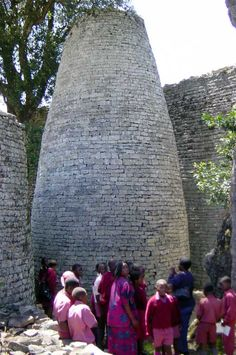 The Great Zimbabwe prehisoric building a national pride heritage. Built by the indigenous people (The Shona) of Zimbabwe.