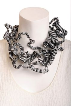 textile necklace twisted necklacebold necklace by Frogaspect