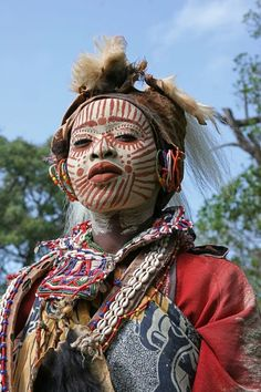 Woman from the Kikuyu tribe in traditional dress, Kenya