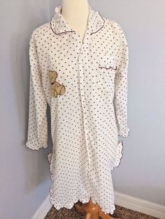 Pimchana Hidden Mickey Pajama Nightshirt Button Down Kpop Japanese Loilta Kawaii #Pimchana #Sleepshirt #Everyday