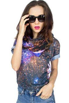 Nebula Tee, Shadowplay New York, Galaxy Print Clothing