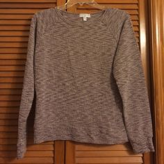 Cotton On Rough Static Sweatshirt Plum/brown & white knitted sweatshirt. It's not sweater knit and has a rough texture. Only worn once Cotton On Tops Sweatshirts & Hoodies