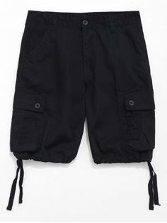 d7a0085d32 Casual Zip Fly Design Cargo Shorts - BLACK - 38
