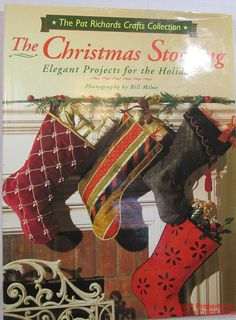 Christmas Stocking Book 30 Elegant Projects HC DJ New Pat Richards Sewing #CraftBook