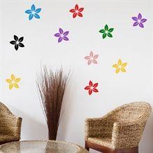 Wallsticker Blomster i forskellige farver