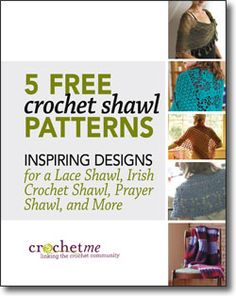Free e-book with 5 crochet shawl patterns