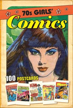 Classic Comics 70's Girls Comics Postcards. This unique and iconic selection of 100 postcards showcases the very best of British Girls' Comics from the 1970's. Collect them, send them and frame them!