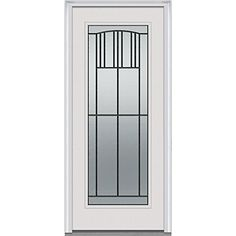 National Door Company Z001676R Smooth Fiberglass Prehung Right Hand  In Swing Entry Door, Madison
