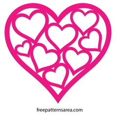 Here is a free arts and crafts easy heart template for Valentine's Day and your romantic projects. Heart Art, Love Heart, Heart Shapes Template, Paper Cutting Patterns, Valentine's Cards For Kids, Cameo, Silhouette Portrait, Felt Patterns, Love Valentines