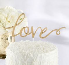 Use this Love Cake Topper to top off your wedding cake with a decor accent that's almost as sweet as it is!  Perfect for your wedding day or bridal shower, this cake top exudes romance and sophistication from every little details.