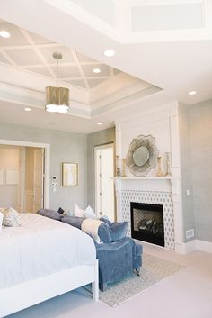 Inspiring Family Home Interiors   Master Bedroom: Fireplace With Mantel