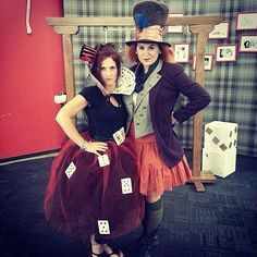 No Boys Allowed: 30 Duo Costumes to Rock With Your BFF (Queen of Hearts and the Mad Hatter)