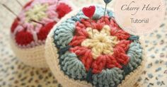 How to make a crocheted African Flower pincushion picture tutorial.