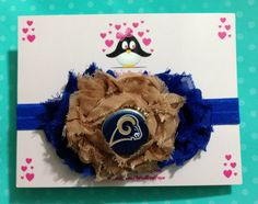 St Louis Rams headband football headband baby by AnisasBowtique, $12.00