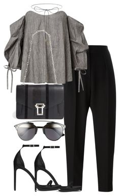 """""""Untitled #2322"""" by theeuropeancloset on Polyvore featuring Alexander Wang, Yves Saint Laurent, Proenza Schouler, Lilou and Christian Dior"""