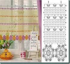 Resultado de imagen para visillos a crochet