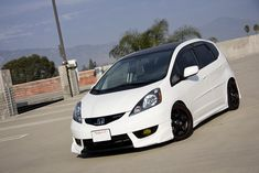 wanna see those pimped - Unofficial Honda FIT Forums Honda Jazz, Honda Fit, Honda Vtec, Honda Ruckus, Honda Civic, Dodge Charger Hellcat, Motor Car, Dream Cars, Classic Cars