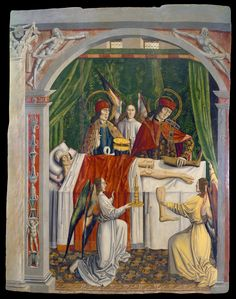 A Verger's Dream: Saints Cosmas and Damian Performing a Miraculous Cure by Transplantation of a Leg // ca. 1495 // Master of Los Balbases // World Digital Library