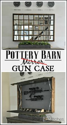 Pottery Barn Mirror Hidden Gun Case Sawdust2stitches