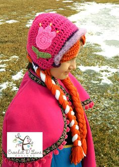 Princess Anna of Arendelle crochet hat/bonnet