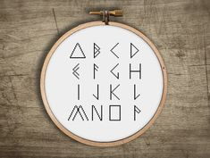 modern cross stitch FONT pattern geometric triangle  von futska