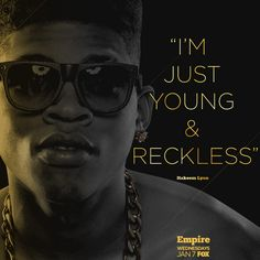 Hakeem Lyon is coming to Empire January 7 on FOX. Empire Cast, Empire Fox, Empire Hakeem, Empire Quotes, Best New Shows, I Dont Fit In, Empire Records, Empire Season, Fox Tv