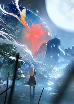 Mushishi | Artland | Yuki Urushibara / Ginko / 「山蟲」/「夕食_PFFK」のイラスト [pixiv]