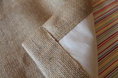 Living the Sweet Life: How to: Lined Burlap Curtains
