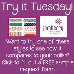 Try Jamberry for free! #free #nailart #nails