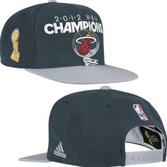 Miami Heat 2012 NBA Finals Champions Locker Room Hat (Black)