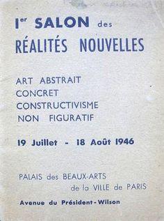 RÉALITÉS NOUVELLES 1st Salon Exhibition Catalogue, 1946