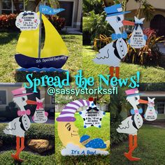 Stork sign girl stork yard sign birth announcement big sister big sassy storks n such miami fl we offer personalized yard sign rentals for negle Image collections