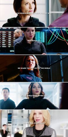 The world never did help a smart girl. Why would it? We terrify the shit out of the world. If the world goes after you... take it as a compliment. #supergirl