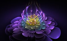 "Fractal ""Blooming Essence"" by Wolfepaw"