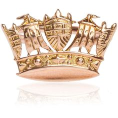 Annina Vogel Crown Victorian Stud Ring ($730) ❤ liked on Polyvore