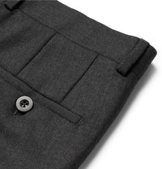 <b>EXCLUSIVE AT MR PORTER.COM.</b> <a href='http://www.mrporter.com/mens/Designers/Mr_P'>Mr P.</a>'s suit trousers are tailored from worsted wool that's exceptionally smooth and resilient. Ideal for the office, this pair is tailored for a straight shape and has a French bearer behind the fly to maintain a smart, flat front appearance. Complete a sharp look by teaming it with the [matching suit jacket id971519].