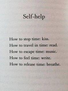 Self-help in the space of time