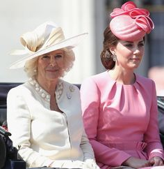 The Duchess of Cambridge travelled in a horse-drawn carriage with Prince Harry and the Duchess of Cornwall.