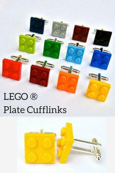 I love these Lego cufflinks, the perfect gift for father's day! #dad #father #day #gift #cufflinks #legos #lego #diy #ad #etsy #oybpinners