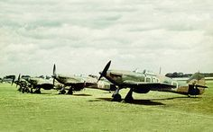 A line up of early Hawker Hurricane I's in England most probably before the commencement of hostilities.