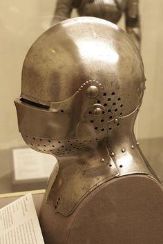 Helmet for use in combat on foot, Germany (Augsburg: Lorenz Helmschmid), 1480-85