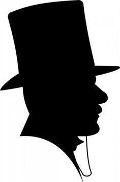 Prediseñadas de vector silueta de hombre con sombrero de Copa  21eac22d9ac