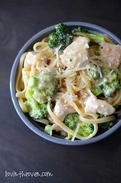 Skinny Chicken Broccoli Alfredo - Lovin' From The Oven