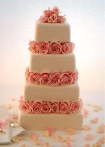 I love this cake!  Little Venice Cake Company | Gallery | Wedding Cakes | Iced | 23 Rose Blush