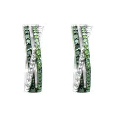$400 STERLING SILVER 0.21CT DIAMOND EARRINGS