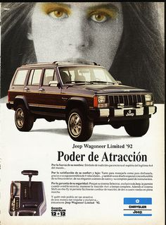 Assembled in Venezuela Jeep Cherokee Limited, Jeep Cherokee Xj, Jeep Wagoneer, Jeep Xj, Henry Ford Museum, Cars And Motorcycles, Car Stuff, Motors, Advertising