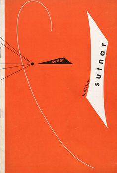 Ladislav Sutnar Catalog for solo show, A-D Gallery New York, A-D Gallery, 1947 Paperbound catalog 8 x 5 3/8 inches (20.3 x 13.7 cm