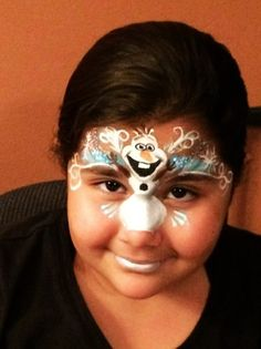 Halloween face paint Frozen Olaf 2015 - kids, forehead, nose - You will love these great 2015 Halloween face paint by hashtagseverywhere